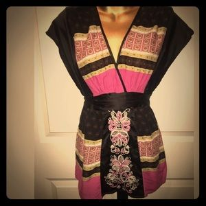 Sweet by miss me size Small black satin pink